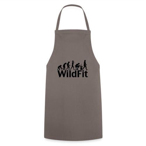 WildFit Logo Evolution in Schwarz - Kochschürze