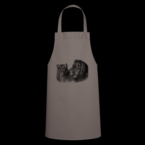 Löwenpaar - Kochschürze