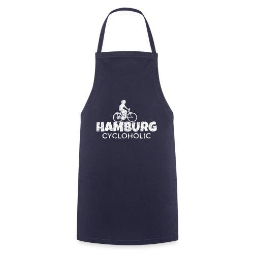 Hamburg Cycloholic (Vintage/Weiß) Fahrradfahrerin - Kochschürze