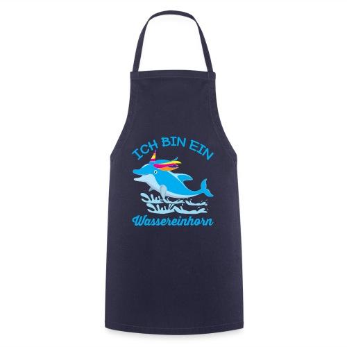 Wassereinhorn Delphin schwimmt im Meer mit Horn - Kochschürze