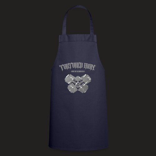 checekerd skull.png - Cooking Apron