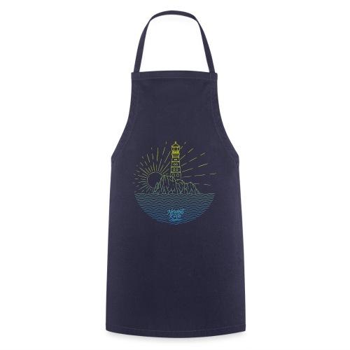 Leuchtturm mit Sonne am Meer - Kochschürze