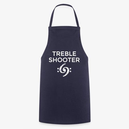 Treble Shooter Bass Design (White) - Kochschürze