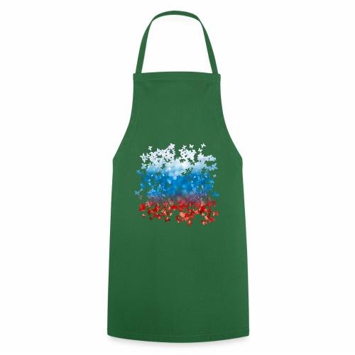 06 Russland Flagge Fahne Russia Schmetterlinge - Kochschürze