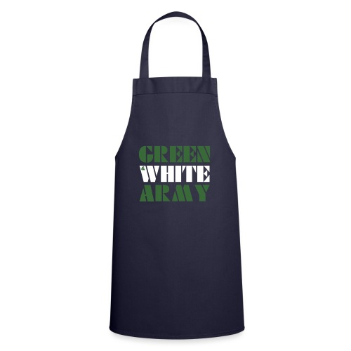 GREEN & WHITE ARMY _STENCIL_3 - Cooking Apron
