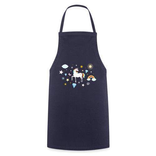 Einhorn Traumwelt Chaos Rainbow Unicorn Sterne - Kochschürze
