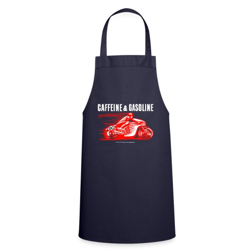 Caffeine & Gasoline white text - Cooking Apron