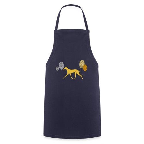 Gelber Windhund - Kochschürze