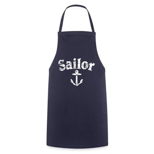 Sailor Anker Segeln Segel Segler (Vintage/Weiß) - Kochschürze
