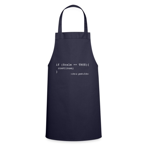 Coder's Keep Calm (with white text) - Cooking Apron