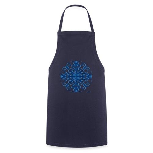Classic Blue Modo Mandala - Delantal de cocina