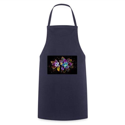 Wunderschöne Kunstblumen - Kochschürze