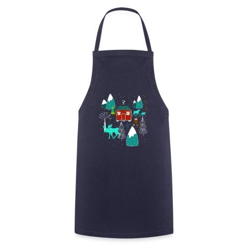 Weihnachten Elch I Geschenk Winterstimmung - Kochschürze