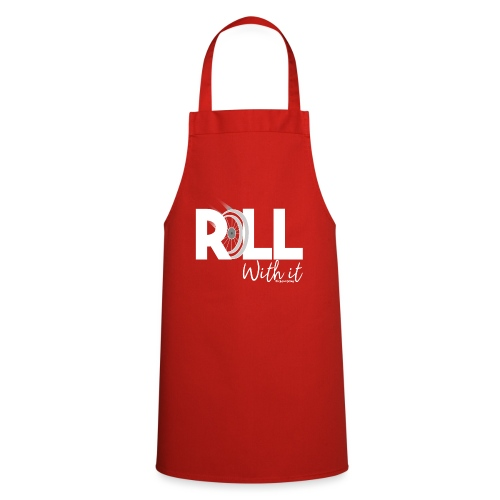 Amy's 'Roll with it' design (white text) - Cooking Apron