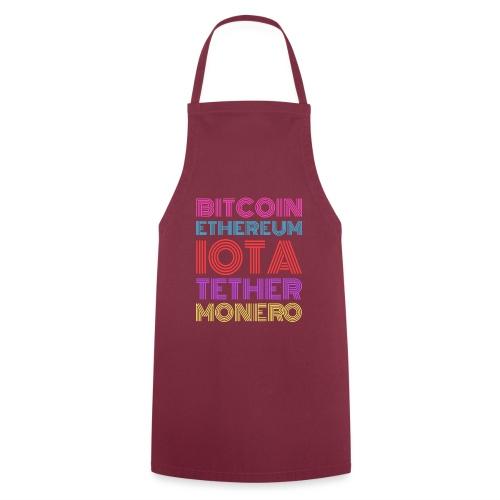 Retro Crypto | Bitcoin, Ethereum, IOTA, Tether - Kochschürze