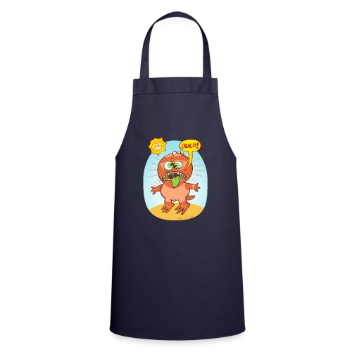 Bad summer sunburn for a funny dinosaur - Cooking Apron