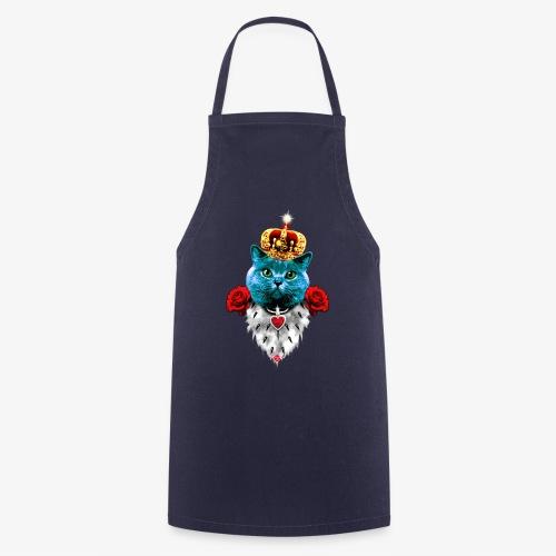 18 Blue Cat King Red Roses Blaue Katze König Rosen - Kochschürze