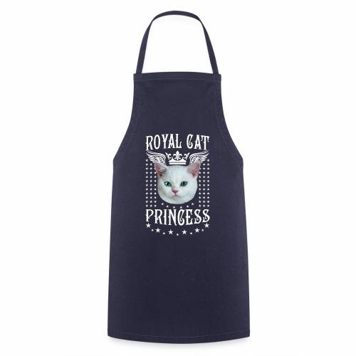 26 Royal Cat Princess white feine weiße Katze - Kochschürze