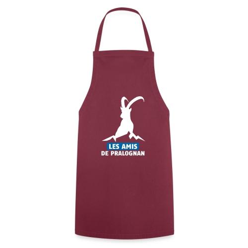 Logo Les Amis de Pralo grand blanc - Tablier de cuisine