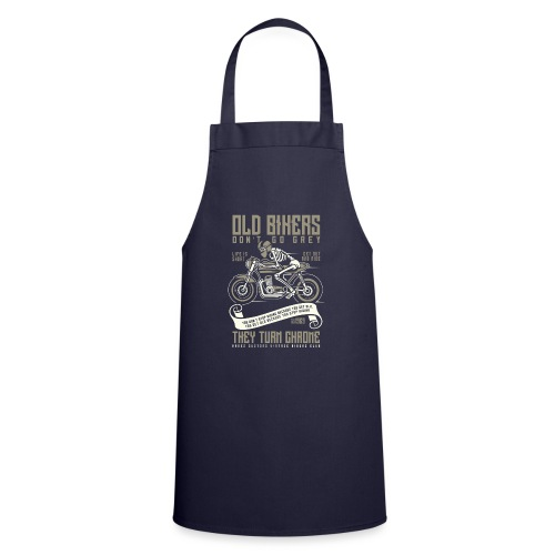 Old Bikers Turn Chrome - Cooking Apron