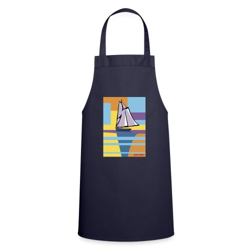 Au large, aube - Tablier de cuisine
