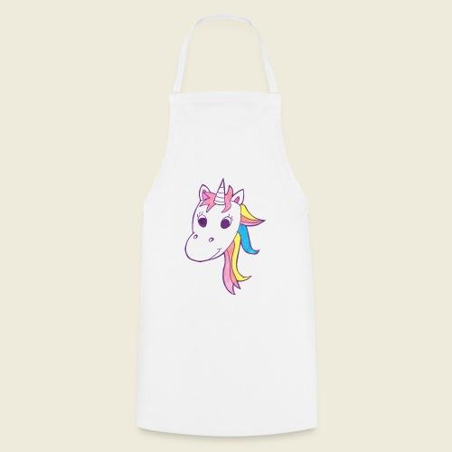 Einhorn Unicorna lila weiß bunte Mähne - Kochschürze