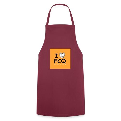 I Love FCQ button orange - Kochschürze