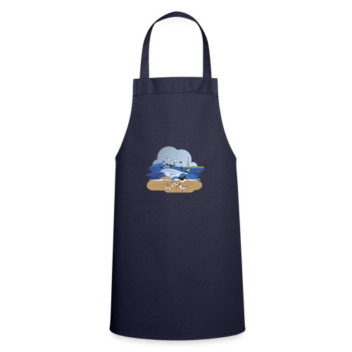 See... birds on the shore - Cooking Apron