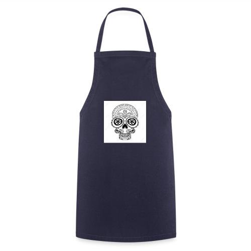 51457190 Disegno a mano Cranio in stile zentangle - Grembiule da cucina