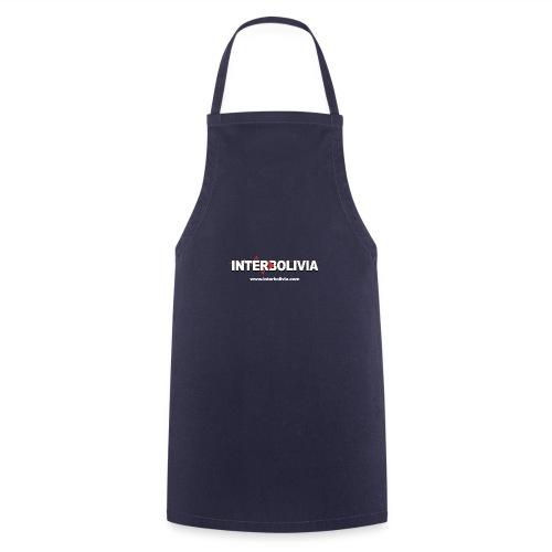logo blanco interbolivia tshirt - Delantal de cocina