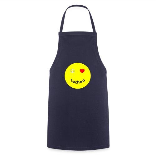 camiseta paz amor techno - Delantal de cocina
