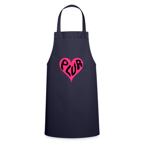 PLUR - Peace Love Unity and Respect love heart - Cooking Apron