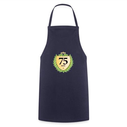 75. Geburtstag Wappen Lorbeerkranz goldene Sterne - Cooking Apron
