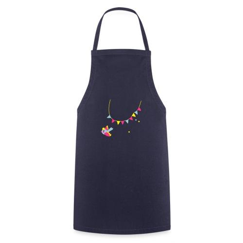 Spatz # Affentanz # bunt - Kochschürze