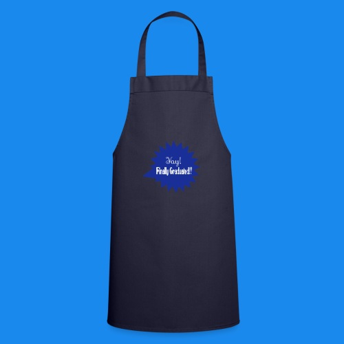 💬✦°•Yay! Finally Graduated Speech-bubble design - Cooking Apron