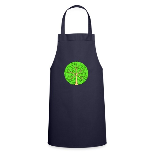 Baum, rund, hellgrün - Kochschürze