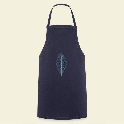 Feuille bleu Squelette - Tablier de cuisine