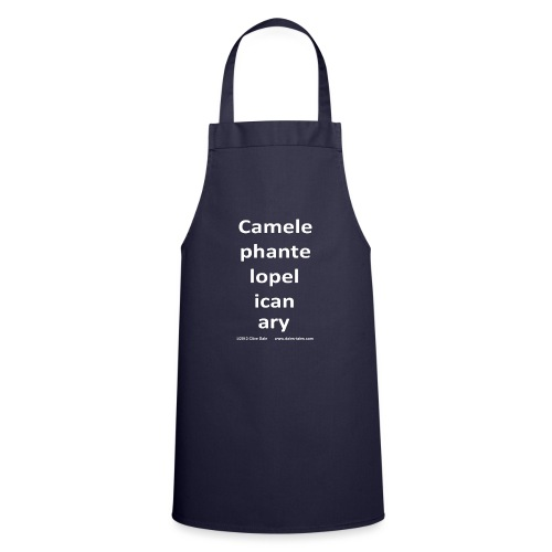 camelepha 5lines white - Cooking Apron