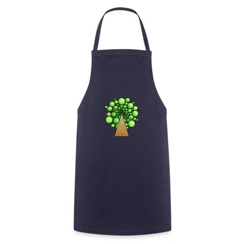 Kugel-Baum, 3d, hellgrün - Kochschürze