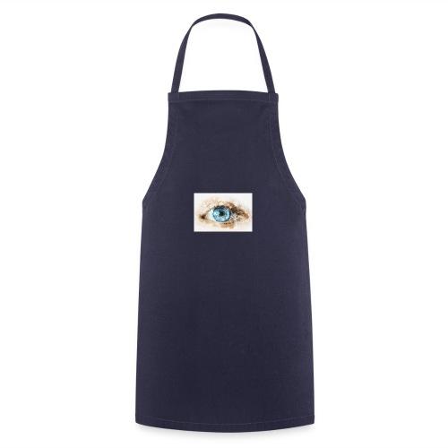 eye-blue-girl-art - Tablier de cuisine