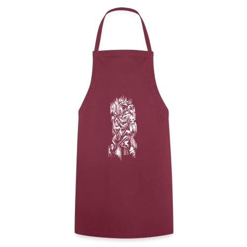 Samurai / White - Abstract Tatoo - Cooking Apron