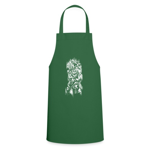 Samurai / White - Abstract Tatoo - Cooking Apron