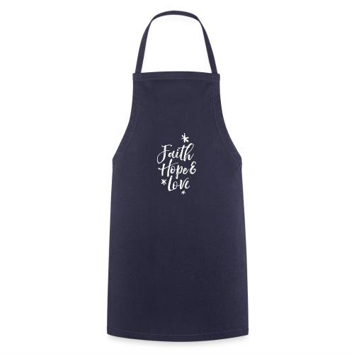 faith hope love frühling - Kochschürze