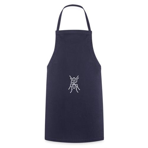 Ameise, Insekt - weiß - Kochschürze