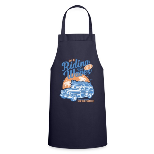 Surf Style T-shirt - Riding the Waves - Cooking Apron