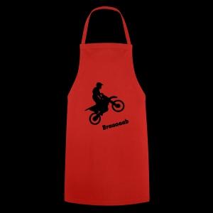 Motorrad im Wheelie - Kochschürze