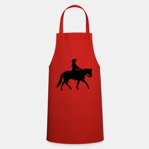 Ranch Riding Silhouette Westernreiterin - Kochschürze