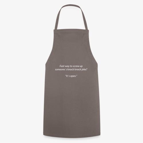 Screwing Up A Knock Knock Joke - Cooking Apron