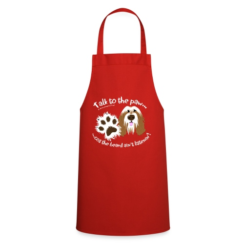 Talk to the paw brown beardie - Cooking Apron