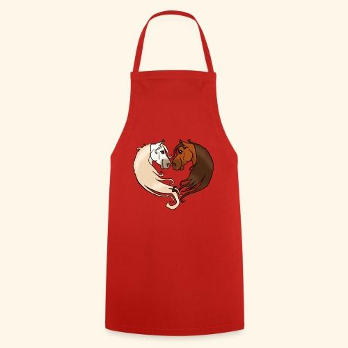 Chevaux amoureux bai-gris - Tablier de cuisine